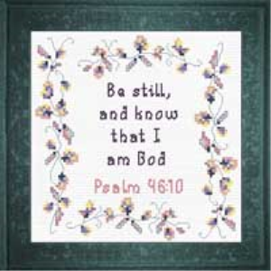 QS Be Still | Crafting | Cross-Stitch | Religious