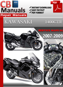 kawasaki 1400gtr 2007-2009 service repair manual