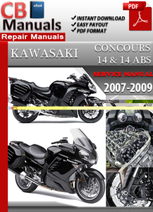 kawasaki concours 14 and 14 abs 2007-2009 service repair manual