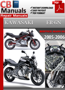 kawasaki er650 er-6n 2005-2006 service repair manual