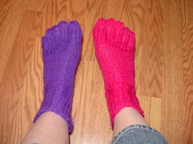 Loom Knit Toe Socks | Other Files | Arts and Crafts