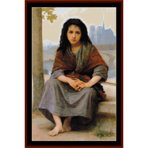 The Bohemian - Bouguereau cross stitch pattern by Cross Stitch Collectibles | Crafting | Cross-Stitch | Wall Hangings