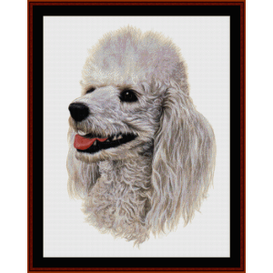 white poodle - robert j. may cross stitch pattern by cross stitch collectibles