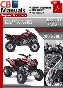 kawasaki kfx 700 v-force 2003-2005 service repair manual
