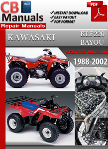 Kawasaki KLF220 Bayou 1988-2002 Service Repair Manual | eBooks | Automotive