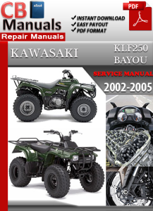 Kawasaki KLF250 Bayou 2002-2005 Service Repair Manual | eBooks | Automotive