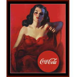 coca cola - vintage poster cross stitch pattern by cross stitch collectibles