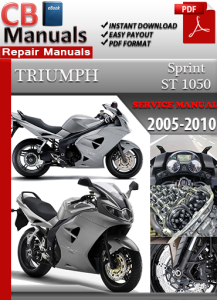 triumph sprint st 1050 2005-2010 service repair manual