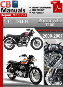triumph bonneville t100 2000-2007 service repair manual