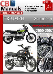 triumph scrambler 2000-2007 service repair manual