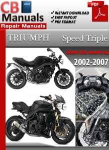 Triumph Speed Triple 2002-2007 Service Repair Manual | eBooks | Automotive