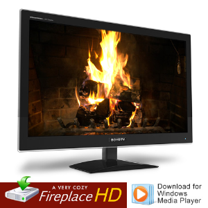 hd fireplace video for windows media player