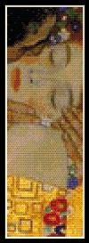 the kiss bookmark - klimt cross stitch pattern by cross stitch collectibles