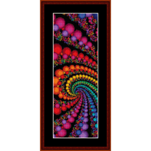 fractal 95 bookmark cross stitch pattern by cross stitch collectibles