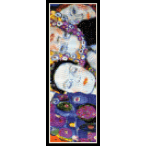 the virgin bookmark - klimt cross stitch pattern by cross stitch collectibles