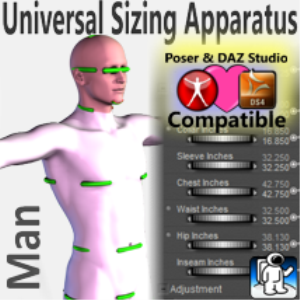 universal sizing apparatus/man
