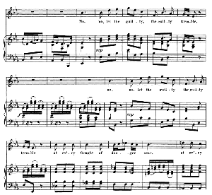 no, no, let the guilty tremble. aria for soprano (michal). (g.f.haendel: saul, hwv 53.vocal score (g.gervinus), ed. peters  (1925)