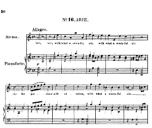 see, see, with what a scornful air. aria for soprano (michal). (g.f.haendel: saul, hwv 53.vocal score (g.gervinus), ed. peters  (1925)