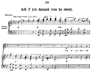 ask if yon damask rose is sweet (soprano aria) g.f.haendel: susanna, hwv 66. vocal score (w.t.best), ed. boosey & co  (1870). pd.