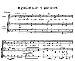 if guiltless blood be your intent. aria for soprano. g.f.haendel: susanna, hwv 66. vocal score (w.t.best), ed. boosey & co  (1870). pd.