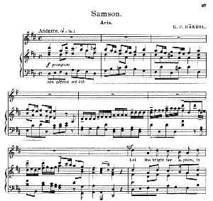 let the bright seraphim, in burning row. soprano aria. g.f.haendel: samson, hwv 57, vocal score. schirmer anthology of sacred song: soprano (m. spicker). ed. schirmer (pd.