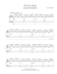 to love again - sheet music