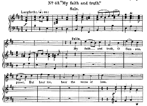 My faith and truth, O Samson. Aria for Soprano (Dalila). G.F.Haendel: Samson, HWV 57. Vocal Score, Ed. Schirmer  (1900) | eBooks | Sheet Music