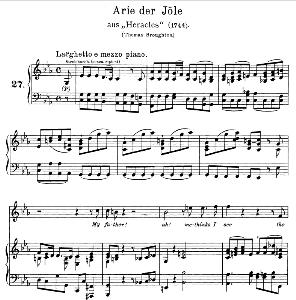 My father! Ah, methinks I see. Aria for Soprano. G.F.Haendel: Hercules, HWV 60, Vocal Score. Gesange für eine Frauenstimme (H. Roth), Ed. Peters, 1915 | eBooks | Sheet Music