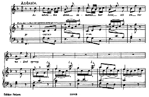 oh! didst thou know...as when the dove laments her love. recitative and aria for soprano (galatea). g.f.haendel: acis and galatea, hwv 49, vocal score. gesange für eine frauenstimme (h. roth), ed. peters, 1915