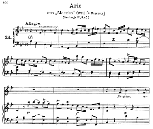 rejoice greatly, o daughter of zion. aria for soprano. g.f.haendel: messiah, hwv 54, vocal score.gesange für eine frauenstimme (h. roth), ed. peters, 1915