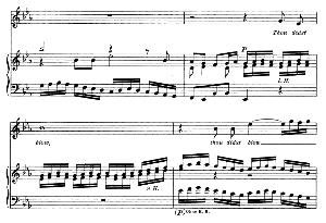 thou didst blow with the wind. aria for soprano. g.f.haendel: israel in egypt, hwv 54, vocal score. gesange für eine frauenstimme (h. roth), ed. peters, 1915