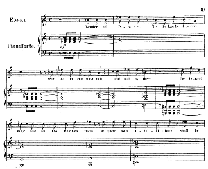 joshua i come commission'd...leader of israel, 'tis the lord's decree. recitative and aria for soprano/boy soprano (angel). g.f.haendel: joshua, hwv 64. vocal score (g.gervinus), ed. peters. pd.