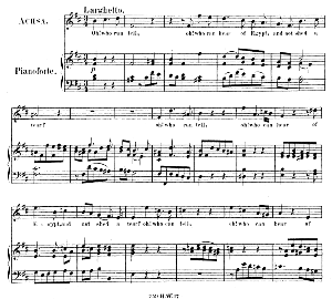 matrons and virgins...oh! who can tell, oh! who can hear of egypt. recitative and aria for soprano (achsah). g.f.haendel: joshua, hwv 64. vocal score (g.gervinus), ed. peters. pd.