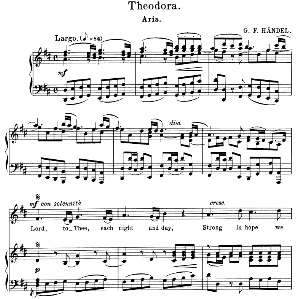 lord, to thee, each night and day. aria for alto/countertenor (irene). g.f.haendel: theodora, hwv  68. vocal score. schirmer anthology of sacred song: alto. (m. spicker). ed. schirmer