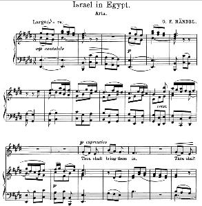 Thou shalt bring them in. Aria for Alto/Countertenor. G.F.Haendel: Israel in Egypt, HWV 54. Vocal Score. Schirmer Anthology of Sacred Song: Alto. (M. Spicker). Ed. Schirmer | eBooks | Sheet Music