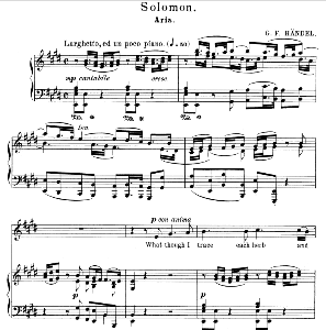 What though I trace each herb and flower. Aria for Alto/Countertenor. G.F.Haendel: Solomon, HWV 67. Vocal Score. Schirmer Anthology of Sacred Song: Alto. (M. Spicker). Ed. Schirmer | eBooks | Sheet Music