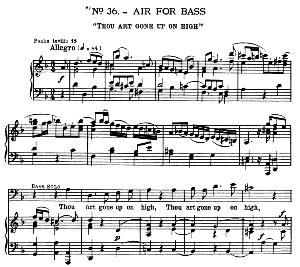 thou art gone up on high. aria for alto/bass/countertenor. g.f.haendel: messiah, hwv 56. vocal score, ed. schirmer  (spicker-noble). 1912