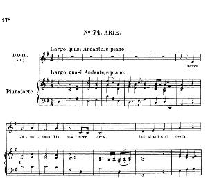 Brave Jonathan his bowne'er drew. Aria for Alto/Countertenor (David). (G.F.Haendel: Saul, HWV 53.Vocal Score (G.Gervinus), Ed. Peters (1925), PD | eBooks | Sheet Music