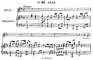 impious wretch, of race accurst. aria for alto, countertenor (david). (g.f.haendel: saul, hwv 53.vocal score (g.gervinus), ed. peters (1925)