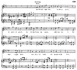 infernal spirits, by whose pow'r .... aria for alto (witch). (g.f.haendel: saul, hwv 53.vocal score (g.gervinus), ed. peters  (1925), pd