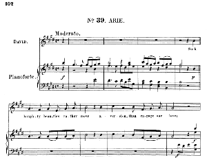 oh my prince, would that were all...such haughty beauties rather move aversion. recitative and aria for alto/countertenor (david). (g.f.haendel: saul, hwv 53.vocal score (g.gervinus), ed. peters  (1925), pd