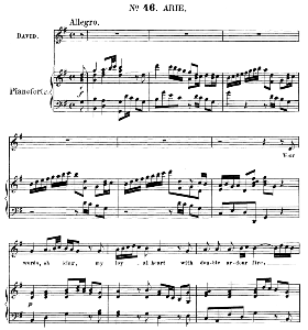Your words, oh King, my loyal heart with double ardour fire. Aria for Alto/Countertenor (David). (G.F.Haendel: Saul, HWV 53.Vocal Score (G.Gervinus), Ed. Peters  (1925), PD | eBooks | Sheet Music