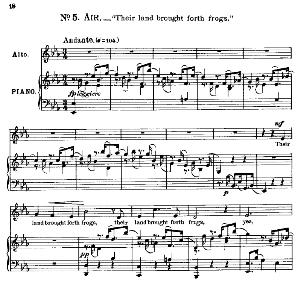 Their land brought forth frogs. Aria for Alto/Countertenor. G.F.Haendel: Israel in Egypt, HWV 54. Vocal Score, Ed. Schirmer; PD | eBooks | Sheet Music