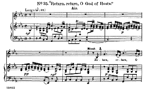 relieve thy champion...return, o god of hosts. recitative and aria for alto/countertenor (micah). g.f.haendel: samson hwv 57, vocal score. ed. schirmer  (1900). pd.