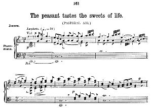 the peasant tastes the sweets of life. aria for alto/countertenor. g.f.haendel: belshazzar, hwv 61. vocal score (w.t.best), ed. boosey & co  (1870). pd.