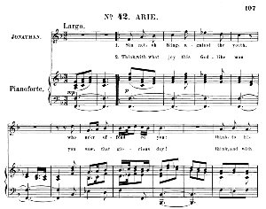 sin not, oh king, against the youth. aria for tenor (jonathan). with recitative