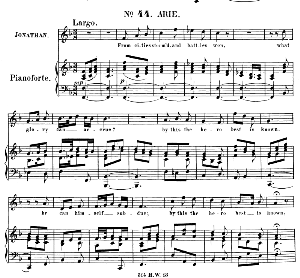from cities storm'd, and battles won. aria for tenor (jonathan). (g.f.haendel: saul, hwv 53.vocal score (g.gervinus), ed. peters (1925)