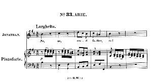 no, no, cruel father, no! aria for tenor (jonathan). with recitative