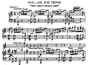 thou shalt break them. aria for tenor. with recitative