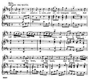 my arms!...sound an alarm. recitative and aria for tenor (judas). g.f.haendel: judas maccabaeus, hwv 63, vocal score. schirmer anthology of sacred song: tenor. (m. spicker). ed. schirmer